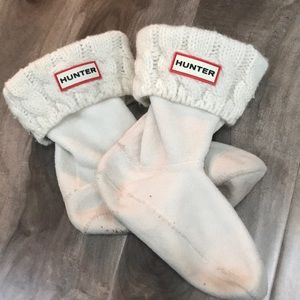 🔥4 for $25🔥 HUNTER kids cable-knit boot socks